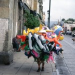 The most balloons in San Miguel, in Mexico.