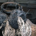 A most scary sight in Borneo - shrunken heads!