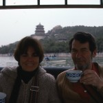 We sip tea at a lovely park in Beijing.