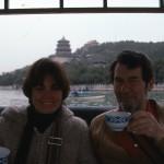 We sip tea at a lovely park in Beijing.