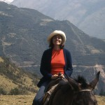 Ann horseback riding in the mountains of Mexico.