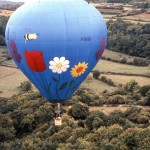 Ann hot air ballooning over France.