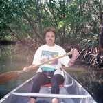 Ann canoeing in Costa Rica.