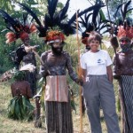 Ann met new friends in Papua New Guinea.