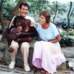 Ann and her husband, Marty, made friends with a chimp.