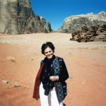 Ann in the desert of Jordan.